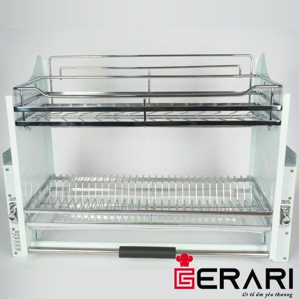 Giá bát đĩa di động Gerari nâng hạ inox 301