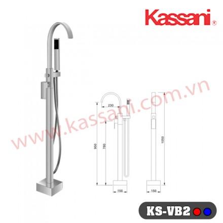 Bộ sen bồn tắm âm sàn nóng lạnh KS-VB2